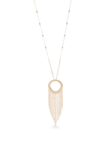New Directions® Gold-Tone Open Round Tassel Necklace