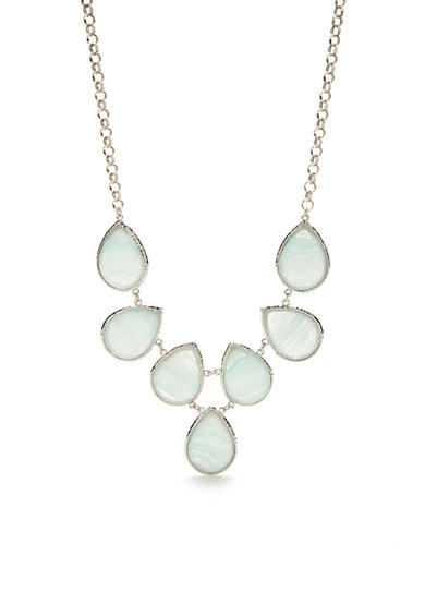 New Directions® Silver-Tone Art N Motion Collar Necklace