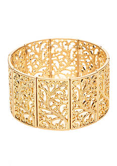 New Directions Worn Gold Textured Stretch Bracelet