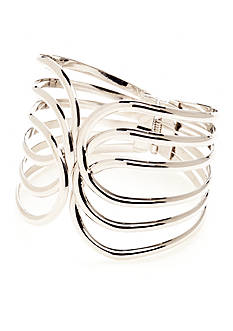 New Directions Open Work Hinged Bangle