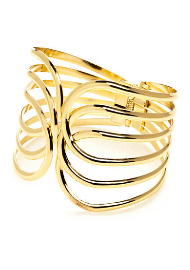 New Directions® Open Work Hinged Metal Bangle