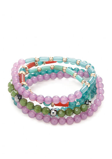 New Directions® The 70's Five Piece Beaded Stretch Bracelets