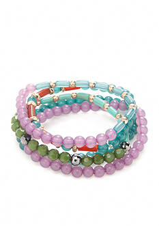 New Directions The 70's Five Piece Beaded Stretch Bracelets