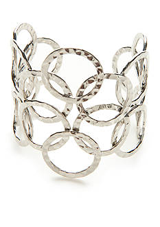 New Directions Silver-Tone Modern Metals Cuff Bracelet