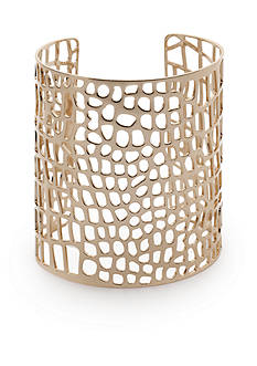 New Directions® Gold-Tone Honeycomb Cuff Bracelet