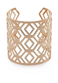 New Directions Gold-Tone Geometric Cuff Bracelet