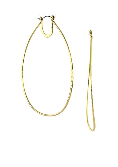 Jessica Simpson Gold-Tone Oval Hoop Earrings