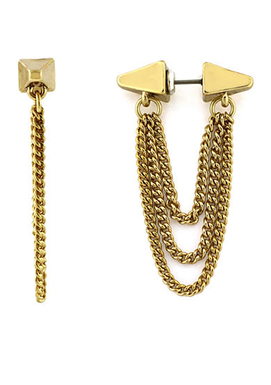 BCBGeneration Gold-Tone Cube Tunnel Earrings