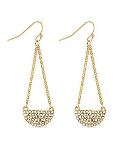 BCBGeneration Gold-Tone Half Moon Chandelier Earrings