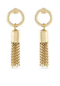 BCBGeneration Fringe Benefits Circle Tassel Drop Earrings