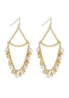 BCBGeneration Gold-Tone Natural Habitat Chandelier Earrings