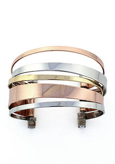 BCBGeneration Tri Tone Core Cuff Bracelet