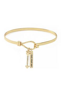 BCBGeneration Gold-Tone Find Your Way Bangle Bracelet