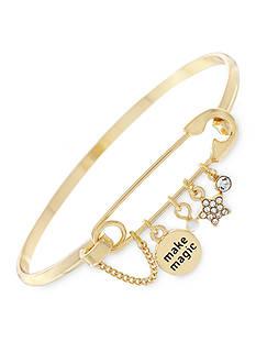 BCBGeneration Gold-Tone Make Magic Charm Bangle Bracelet