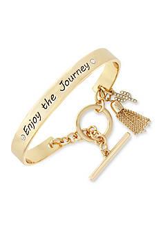 BCBGeneration Gold-Tone Enjoy The Journey Toggle Bracelet