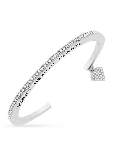BCBGeneration Silver-Tone Purity Beauty Clarity Cuff Bracelet