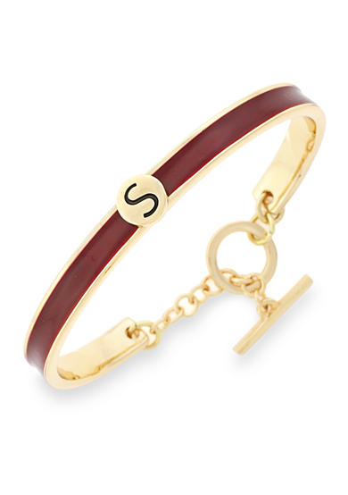 BCBGeneration Gold-Tone Love Letter Initial S Cuff Bracelet