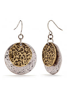 Ruby Rd Utility Chic II Collection Double Disc Earring