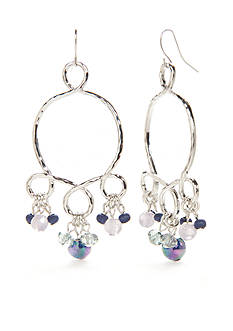 Ruby Rd Silver-Tone Corsica Chandelier Earrings