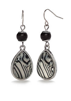 Ruby Rd Silver-Tone Modern Tribes Double Earrings