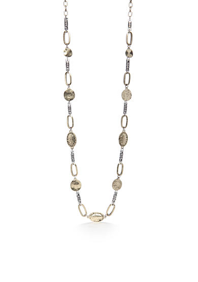 Ruby Rd Two-Tone Metal Works Long Chain Necklace