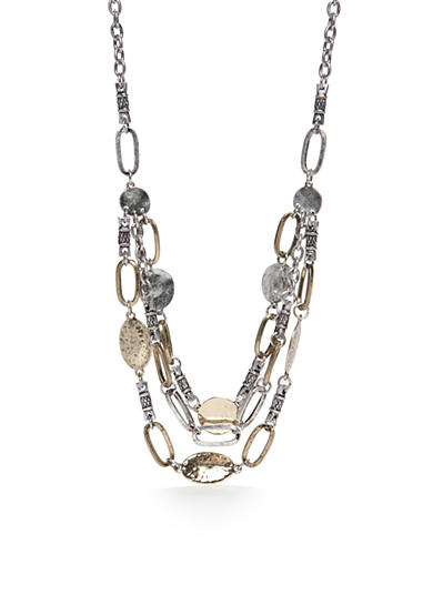 Ruby Rd Two-Tone Metal Works Collar Necklace