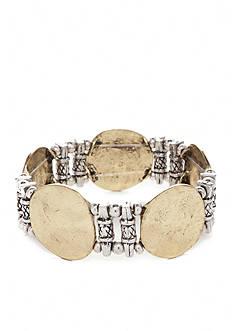 Ruby Rd Two-Tone Metal Works Stretch Bracelet