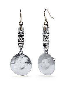 Ruby Rd Silver-Tone Metal Works Link Drop Earrings