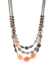 Ruby Rd Silver-Tone Dream Weaver II Multistrand Necklace