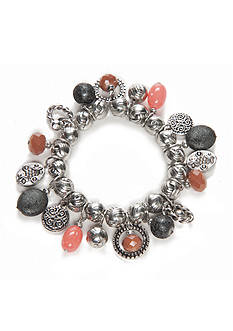 Ruby Rd Silver-Tone Dreamweaver II Shaky Stretch Bracelet