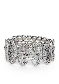 Ruby Rd Silver-Tone Dreamweaver Filigree Stretch Bracelet