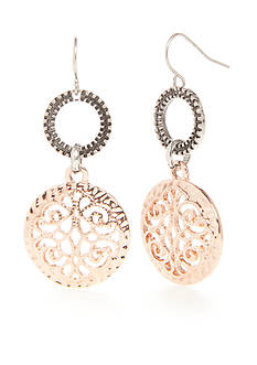 Ruby Rd Two-Tone Dream Weaver Filigree Drop Earrings