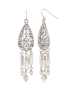 Ruby Rd Silver-Tone Dream Weaver Chandelier Earrings