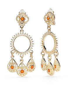 Ruby Rd Gold-Tone Gypsy Caravan Chandelier Earrings