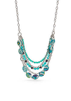 Ruby Rd Silver-Tone Keeping Cool Layered Necklace