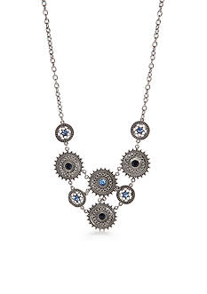Silver-Tone Ruby Rd. Disc Collar Necklace