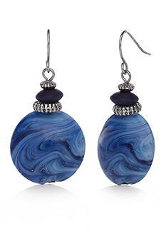 Silver-Tone Ruby Rd. Bead Drop Earrings