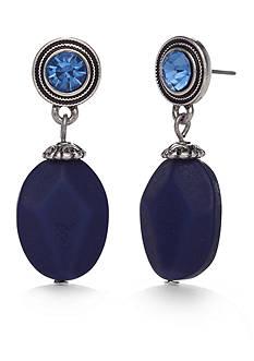 Silver-Tone Ruby Rd. Nugget Drop Earrings