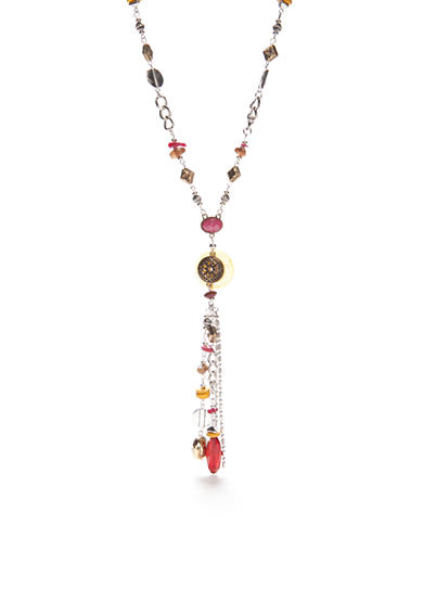 Ruby Rd Silver-Tone Nouveau Boho Long Fringe Necklace