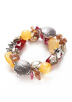 Ruby Rd Tri-Tone Nouveau Boho Stretch Bracelet