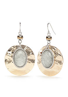 Ruby Rd Two-Tone Neutral Territory Disc Drop Earrings