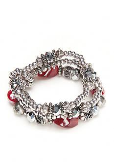 Ruby Rd Silver-Tone Fine Wine Stretch Bracelet