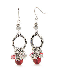 Ruby Rd Silver-Tone Fine Wine Chandelier Earrings