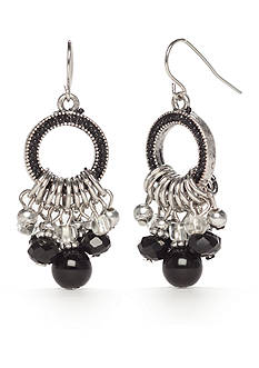 Ruby Rd Silver-Tone Mix It Up Small Chandelier Earrings