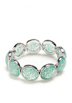 Ruby Rd Silver-Tone Seaside Chic Round Cab Stretch Bracelet