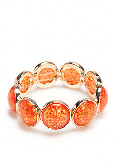 Ruby Rd Gold-Tone Seaside Chic Round Cab Stretch Bracelet