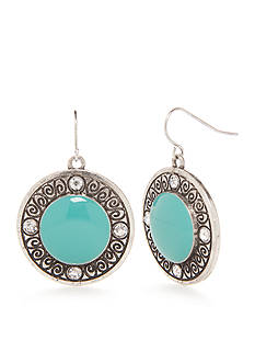 Ruby Rd Silver-Tone Seaside Chic Disc Drop Earrings