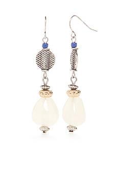 Ruby Rd Silver-Tone Fresh Start Double Drop Earrings