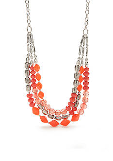 Ruby Rd Silver-Tone Bold Moves Multi-Strand Necklace