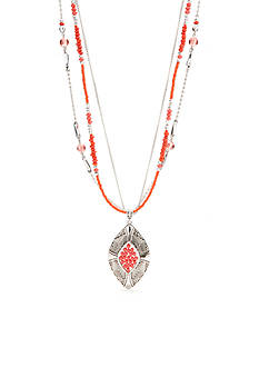 Ruby Rd Bold Moves 3 Row Necklace with Pendant
